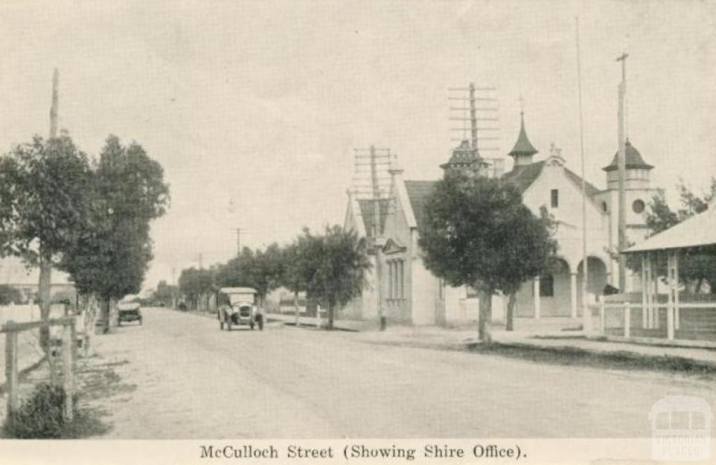 McCulloch Street, showing Shire Office, Donald