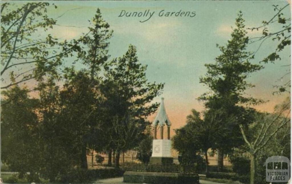 Queen Victoria Jubilee Memorial, Dunolly Gardens, 1907