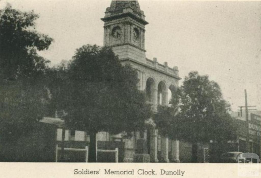 Soldiers' Memorial Clock, Dunolly