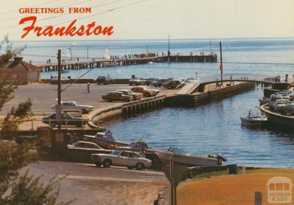 Kananook Creek as it enters Port Phillip Bay, Frankston