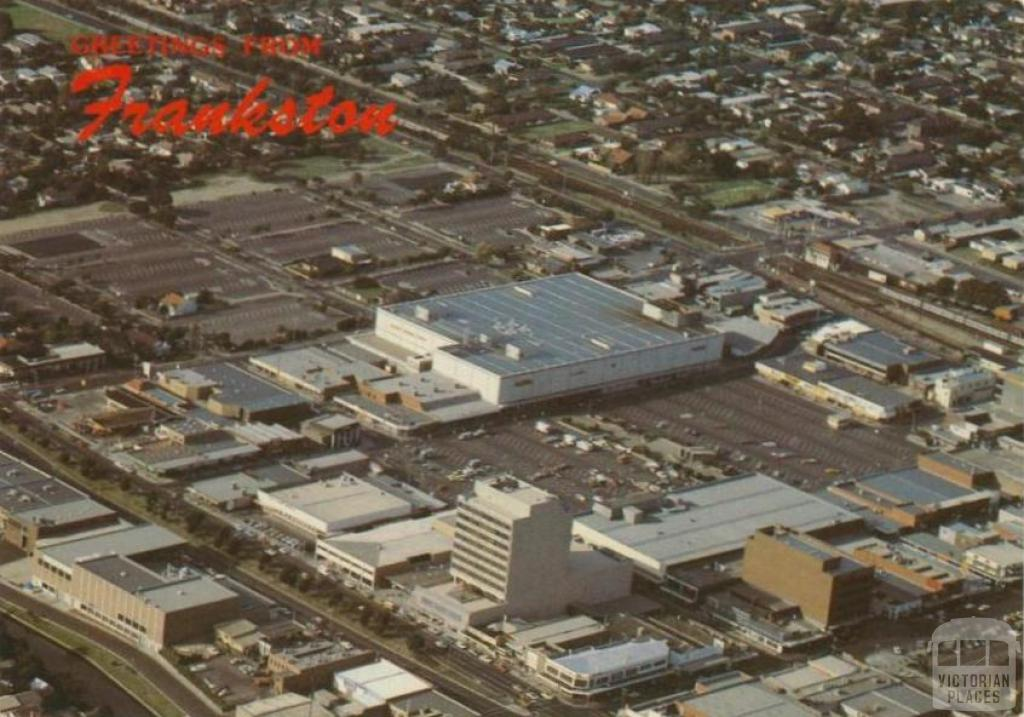 Aerial view of main business centre of Frankston