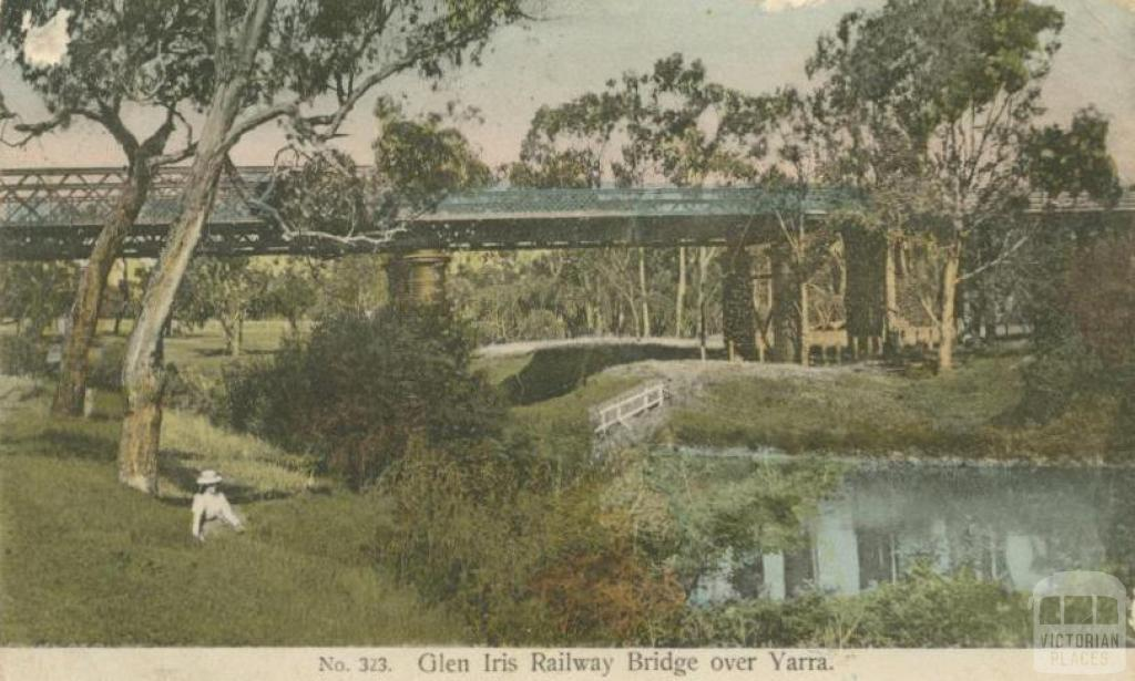 Glen Iris Railway Bridge over Yarra, Toorak, 1908