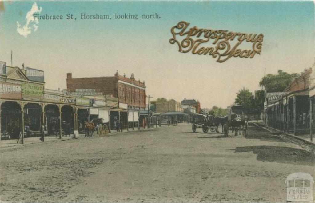 Firebrace Street, Horsham, looking north, 1912