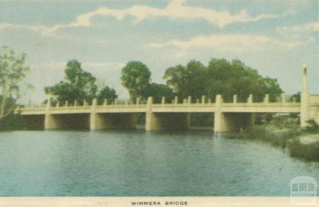 Wimmera Bridge, Horsham, 1951