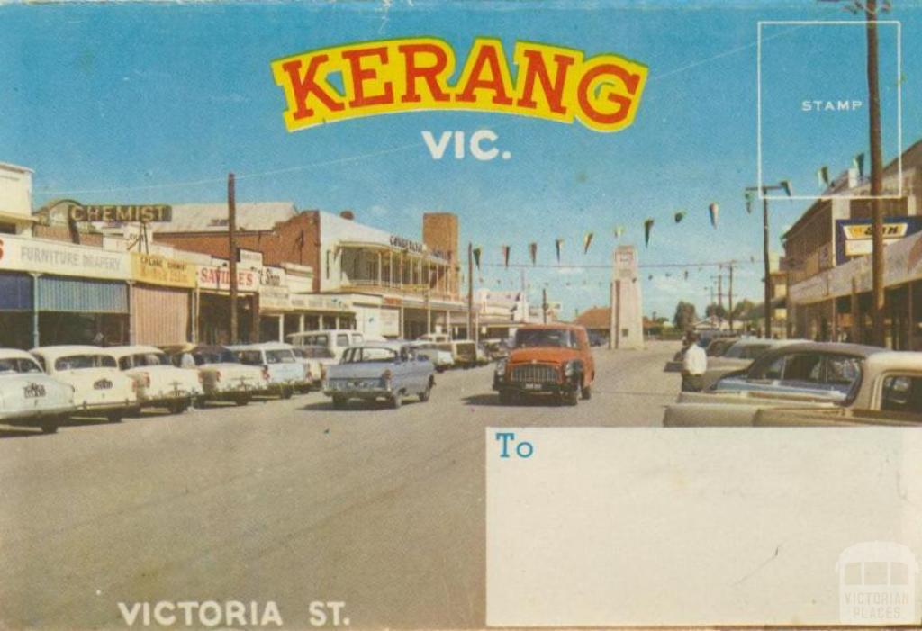 Victoria Street, Kerang, 1965