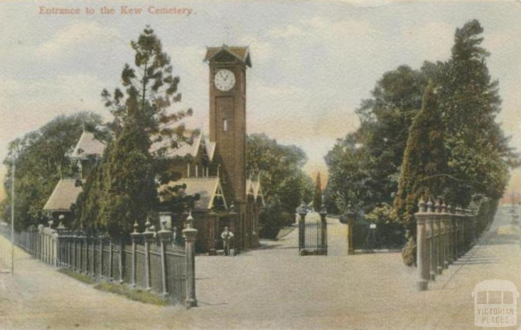 Entrance to the Kew Cemetery, 1906