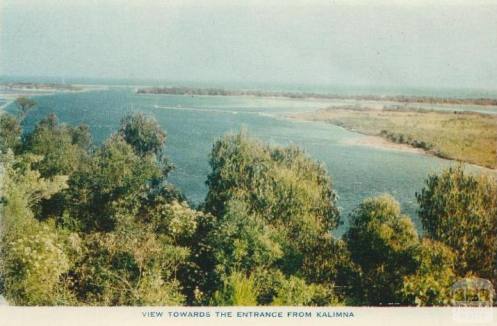 View towards Lakes Entrance from Kalimna, 1955