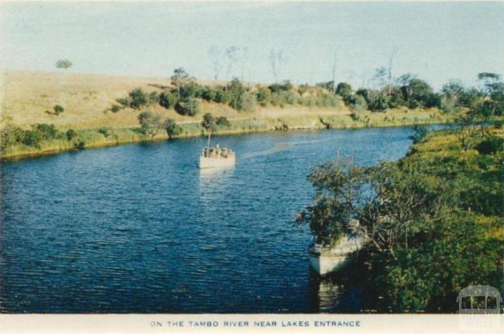 On the Tambo River, near Lakes Entrance, 1955