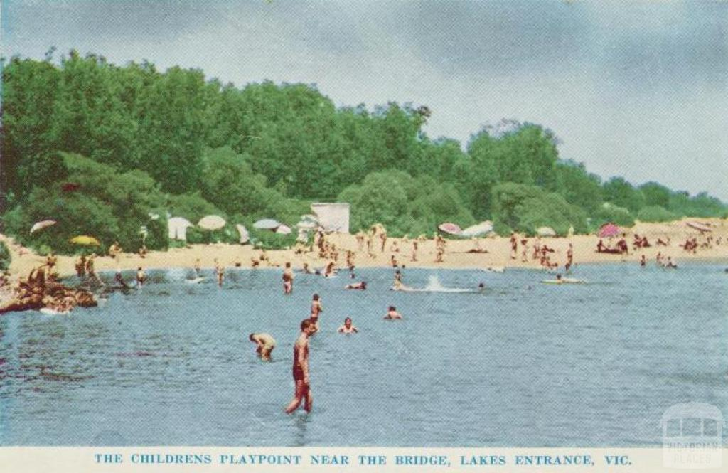 The children's playpoint near the bridge, Lakes Entrance, 1965