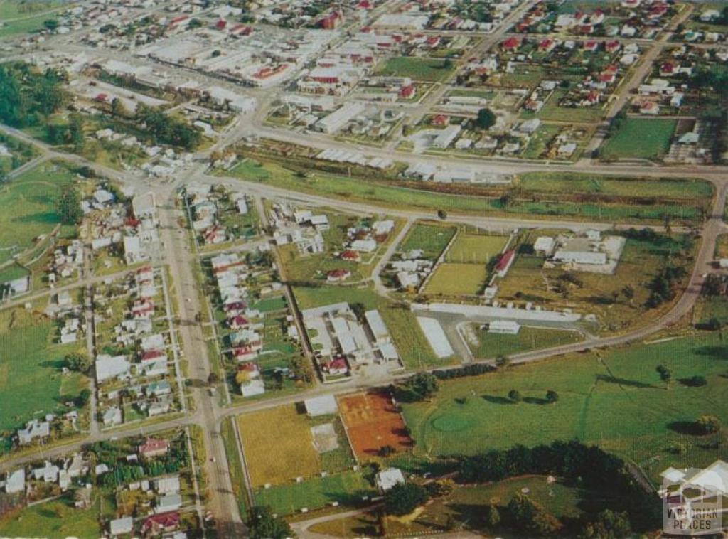 Aerial view of Leongatha