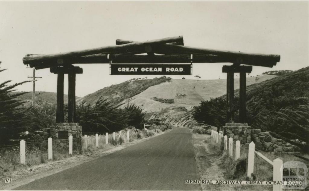 Memorial Archway, Great Ocean Road, Mt Defiance near Lorne