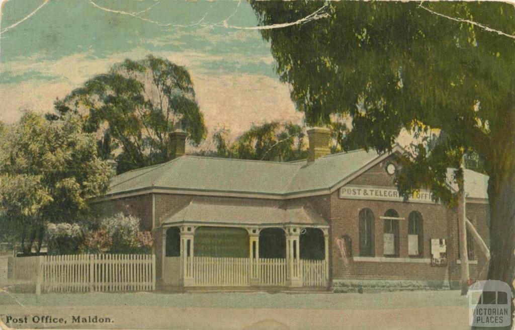 Post Office, Maldon, 1907
