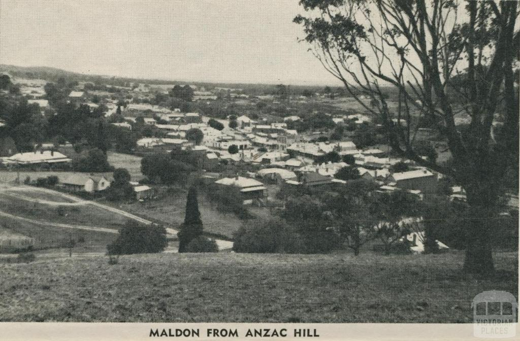 Maldon from Anzac Hill, 1959