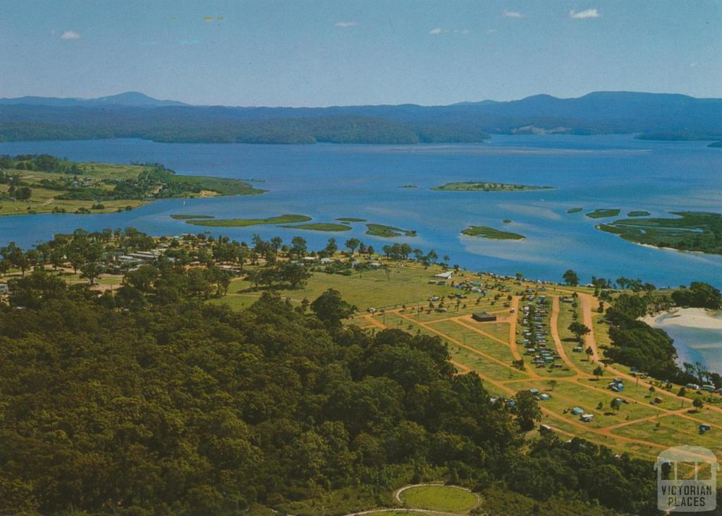 The Camp Park and Lower Lake with the Howe Ranges beyond, Mallacoota