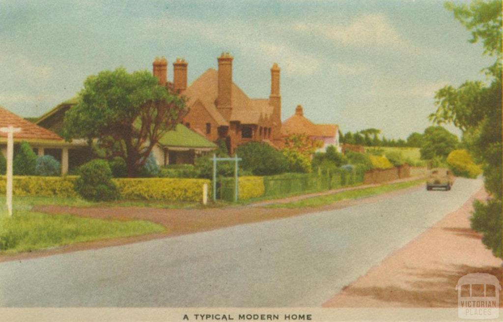 A typical modern home, Mornington, 1951