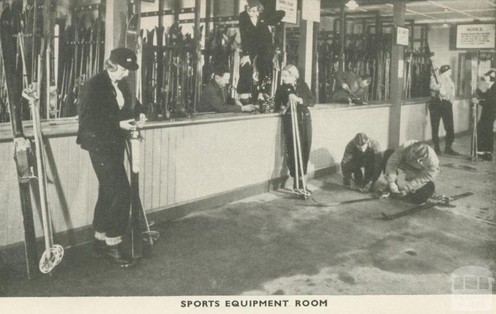 Sports Equipment Room, Mount Buffalo, 1953
