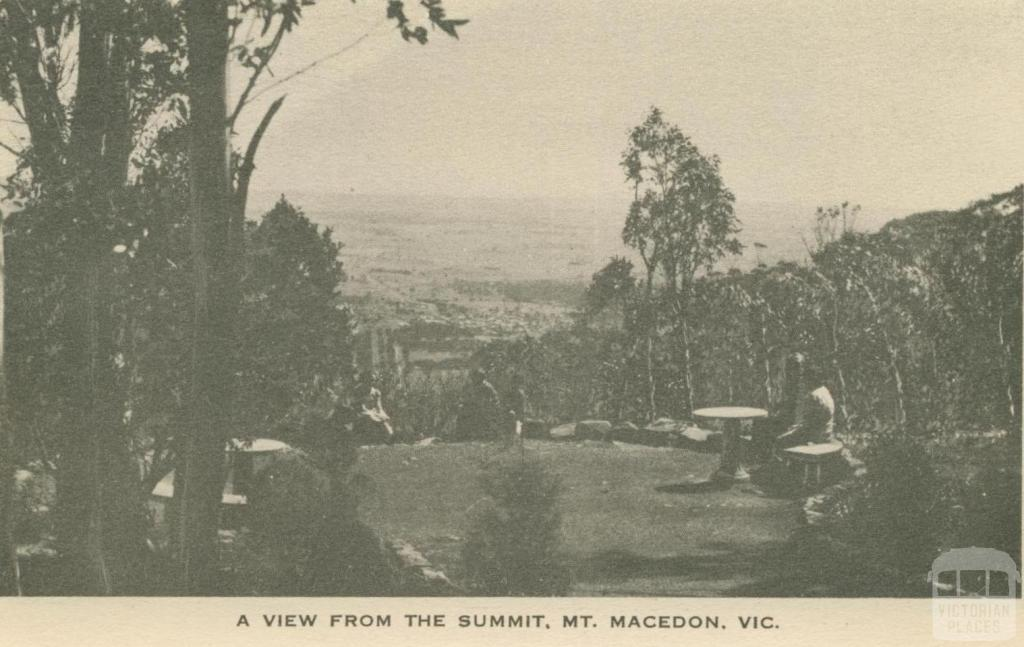 A View from the Summit, Mount Macedon, 1949