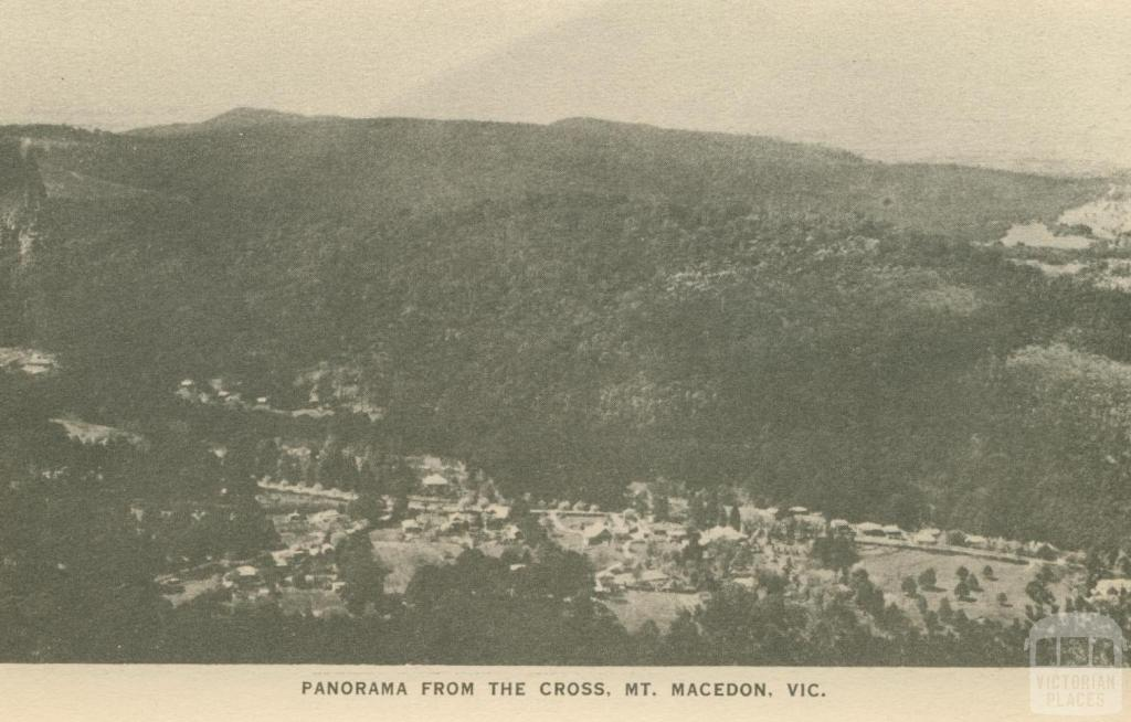 Panorama from the Cross, Mount Macedon, 1949