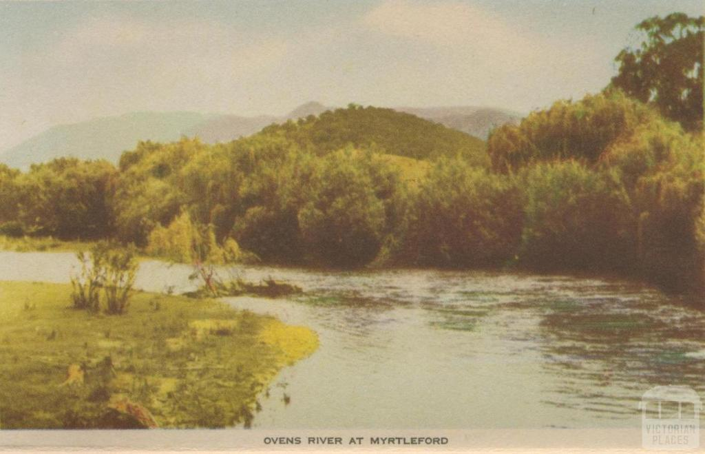Ovens River at Myrtleford, 1953