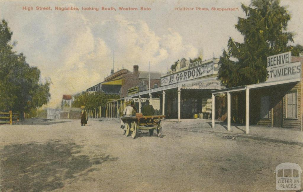 High Street, Nagambie, looking south, western side, 1907