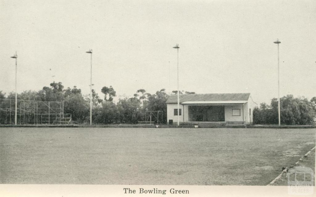 The Bowling Green, Numurkah, 1950