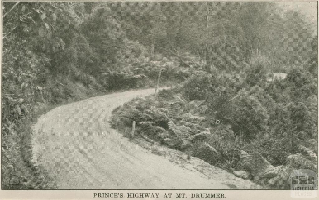 Prince's Highway at Mt Drummer, 1947