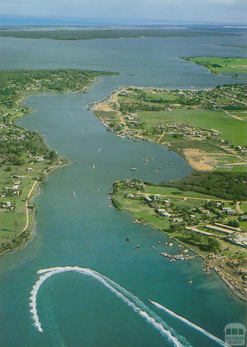 Aerial view of lakeside Paynesville