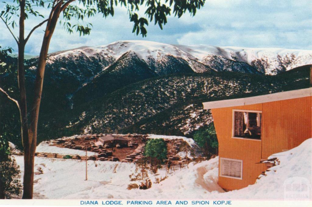 Diana Lodge Parking Area and Spion Kopje, Falls Creek Ski Village,