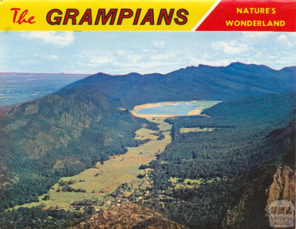 Halls Gap, Fyans Valley from Mt Difficult Lookout, Grampians