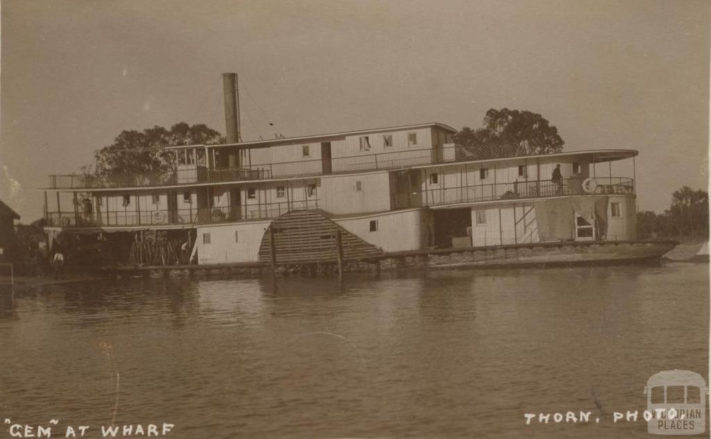 Gem at Wharf, Murray Valley
