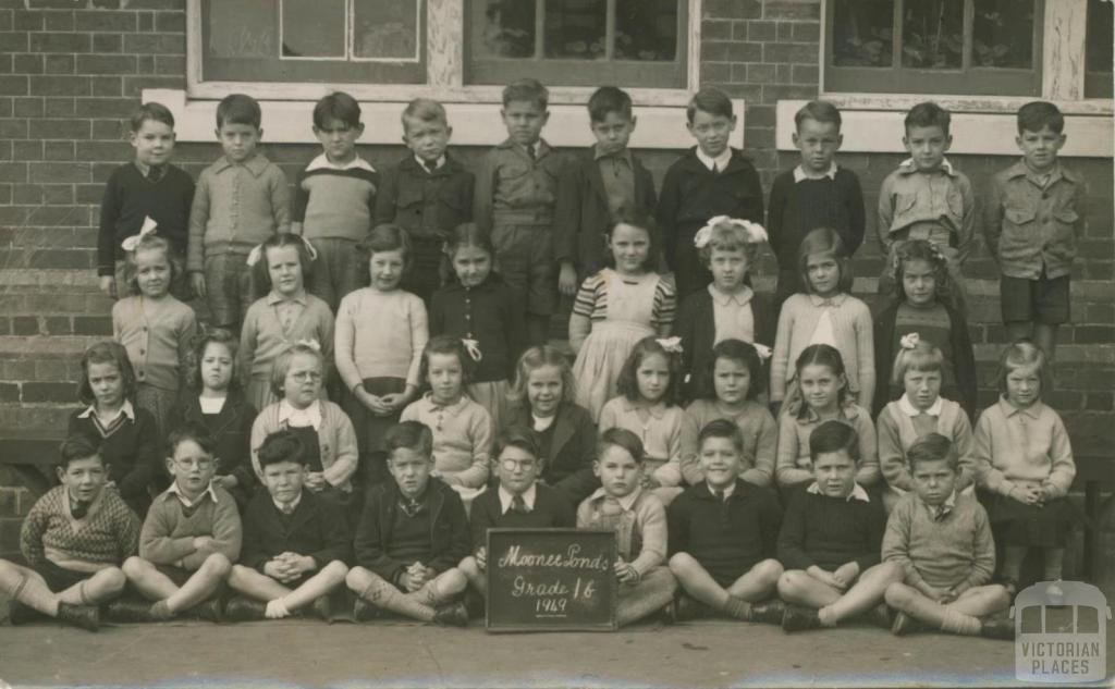 Moonee Ponds school class, 1949