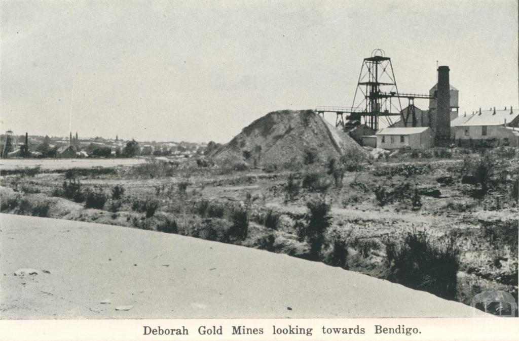 Deborah Gold Mines looking towards Bendigo