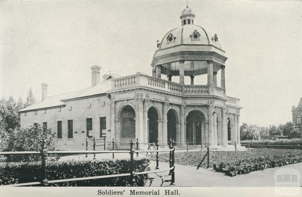 Soldiers' Memorial Hall, Bendigo