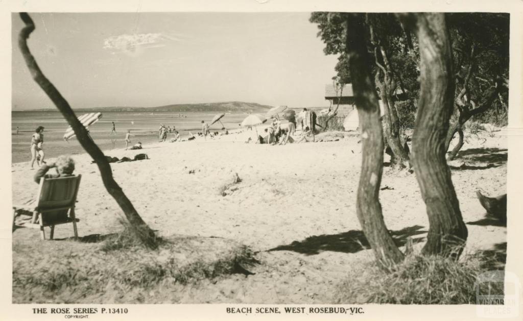 Beach Scene, West Rosebud