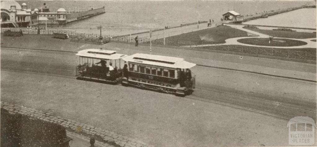 Tram Service, St Kilda, 1909