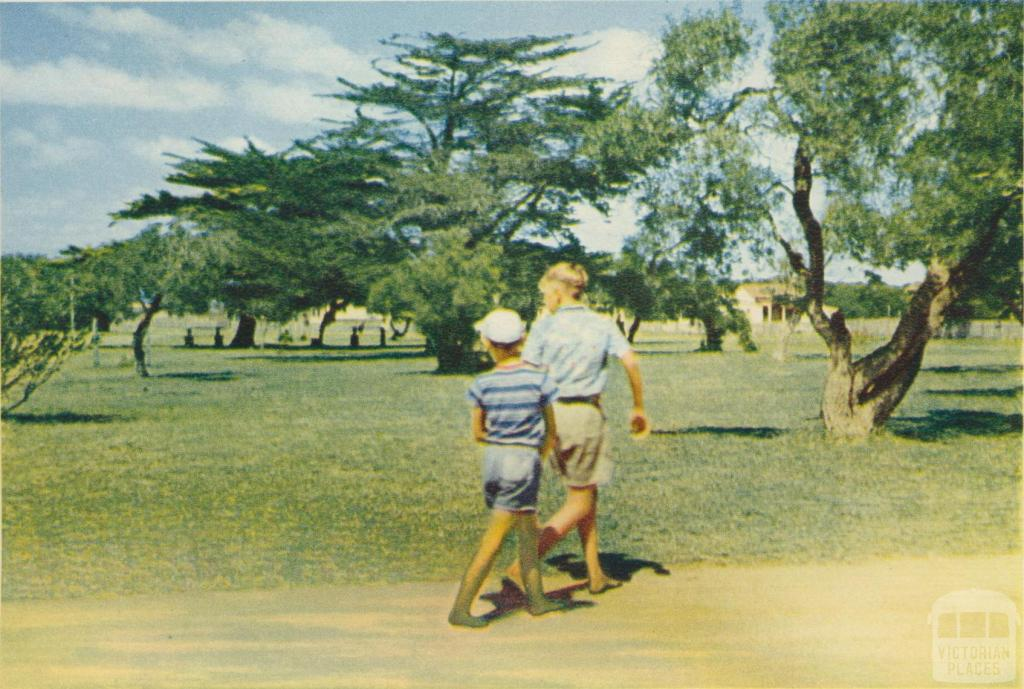 In the Park at Seaspray, 1975