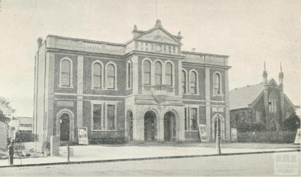 Town Hall and Methodist Church, Stawell, 1935