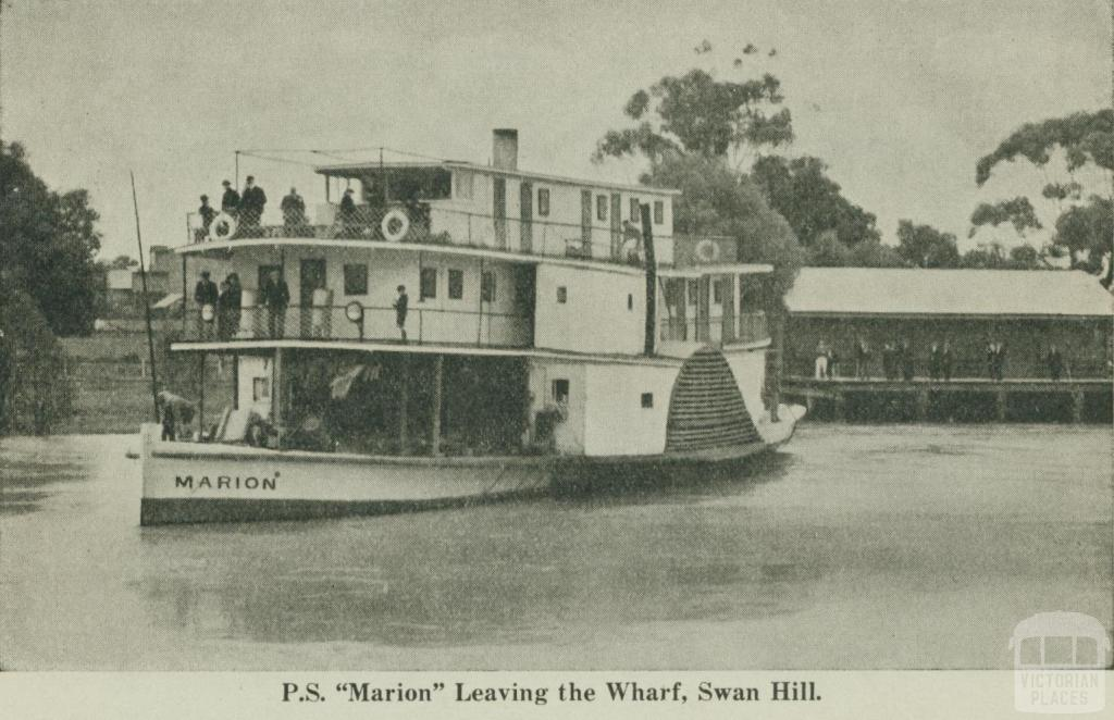 P.S. Marion leaving the Wharf, Swan Hill