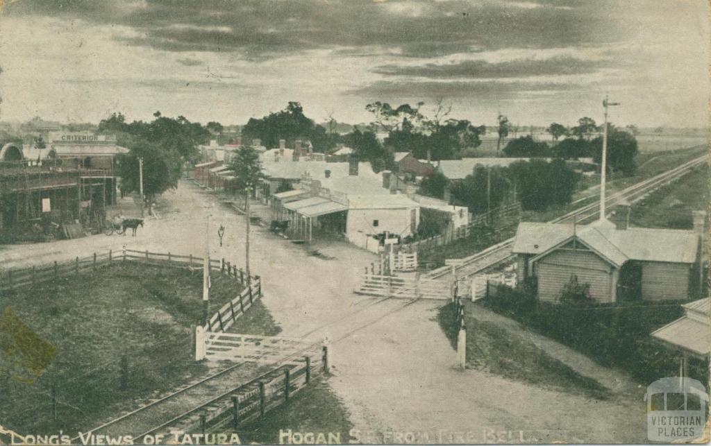 Hogan Street from Fire Bell, Tatura, 1906