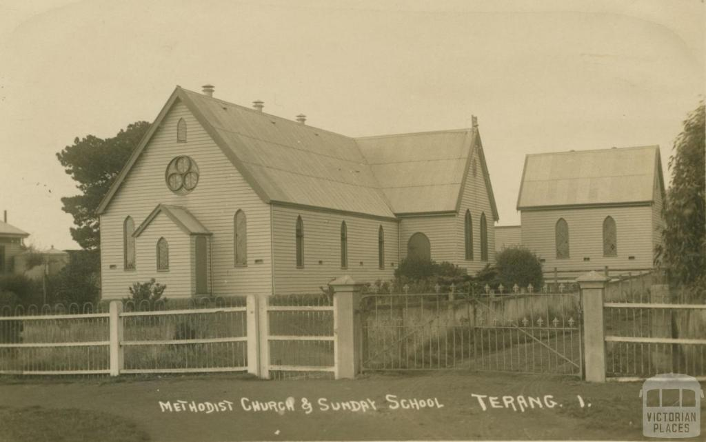 Methodist Church and Sunday School, Terang, 1915