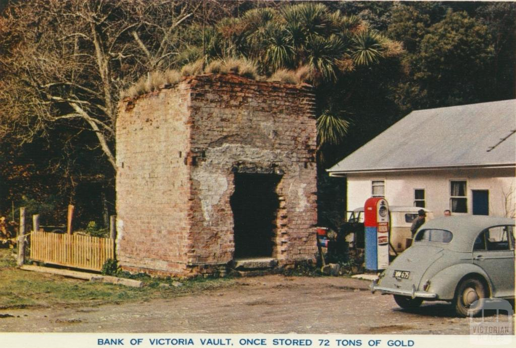 Bank of Victoria Vault, Once Stored 72 Tons of Gold, Walhalla