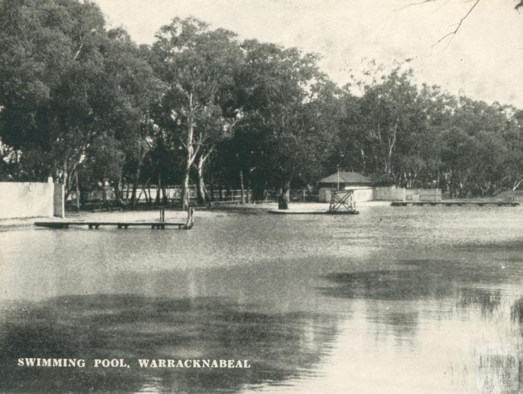 Swimming Pool, Warracknabeal, 1945