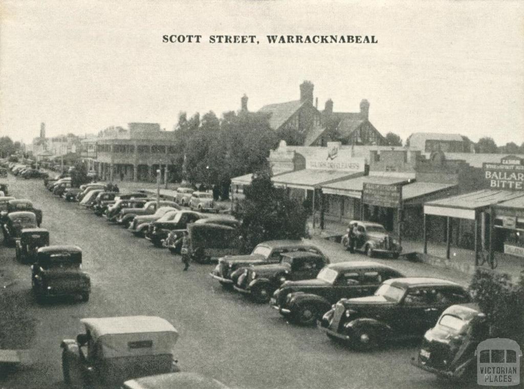 Scott Street, Warracknabeal, 1945