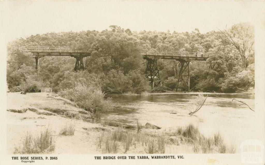 The bridge over the Yarra, Warrandyte, 1921