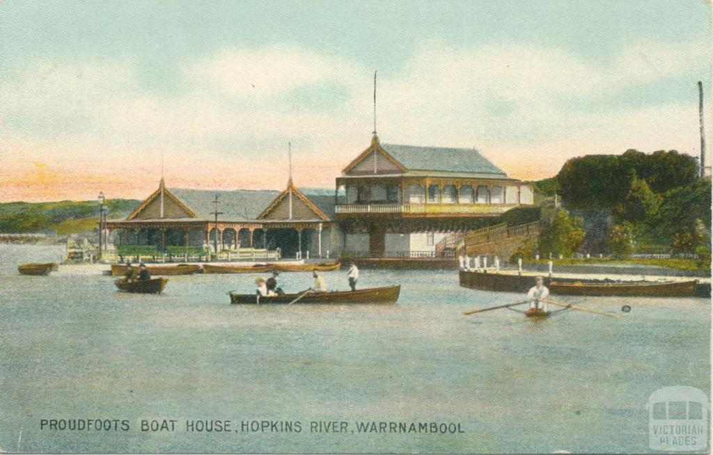 Proudfoot's Boat House, Hopkins River, Warrnambool