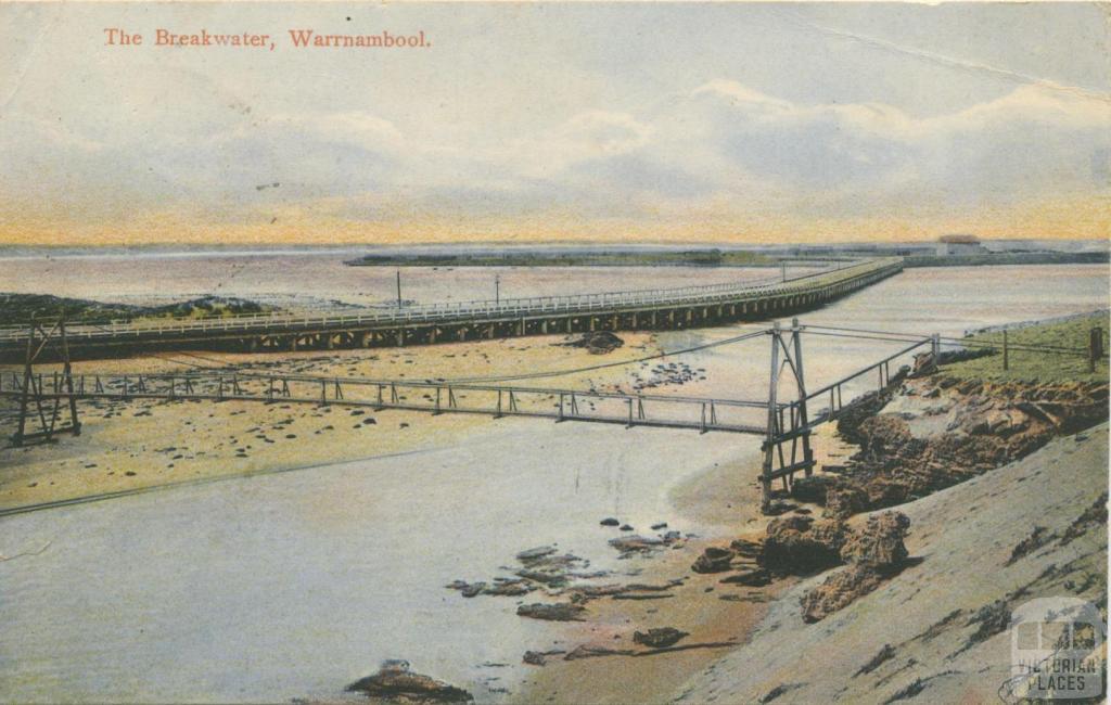 The Breakwater, Warrnambool, 1909