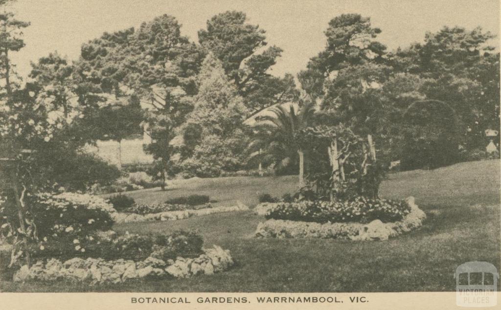 Botanical Gardens, Warrnambool, 1945