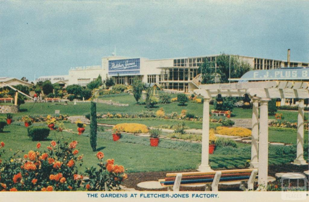 The Gardens at Fletcher Jones Factory, Warrnambool, 1960
