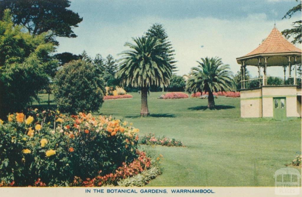 In the Botanical Gardens, Warrnambool, 1960