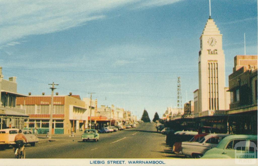 Liebig Street, Warrnambool, 1960